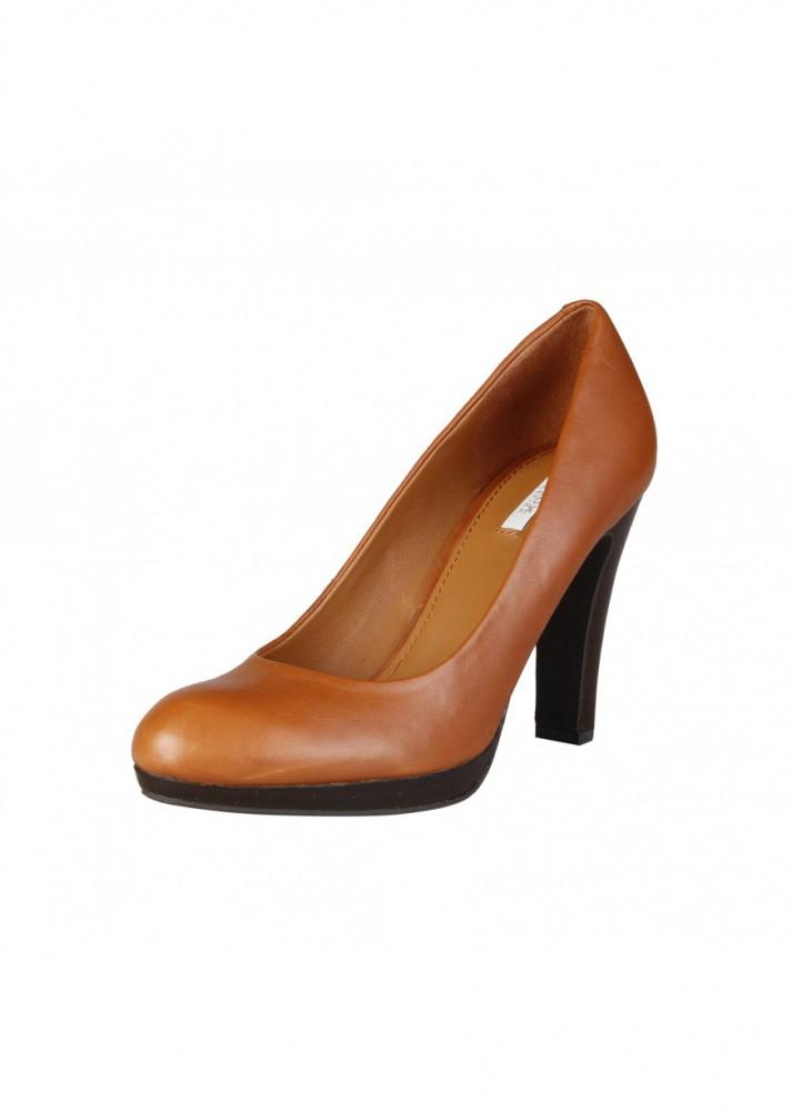 Zapatos Para Marrónde Mujer Piel Tacón De Geox Barato Online Comprar nyvNOP0m8w