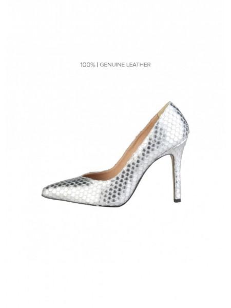 2dc1a5c365b Comprar zapatos de salón plateados online baratos para mujer.