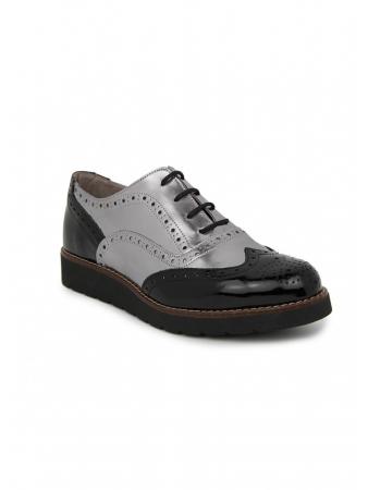 Zapato plano En Piel Plata